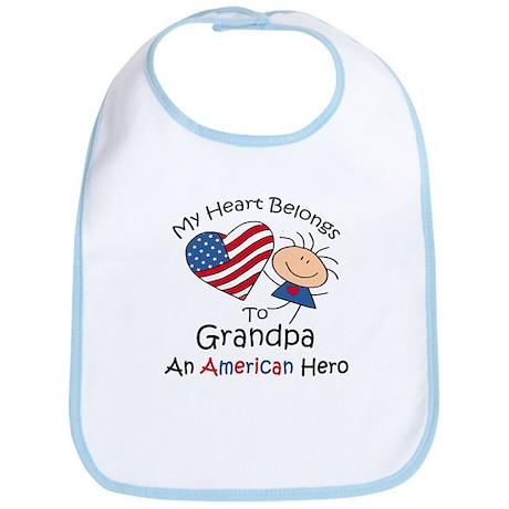 My Heart Belongs to Grandpa Bib