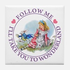 ALICE - FOLLOW ME Tile Coaster