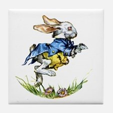 WHITE RABBIT - FOLLOW ME Tile Coaster