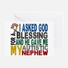 Blessing 5 Autistic Nephew Greeting Card