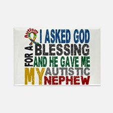 Blessing 5 Autistic Nephew Rectangle Magnet (10 pa