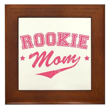 Rookie Mom Framed Tile