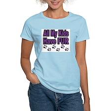 My Kids Have Fur Women's Pink T-Shirt