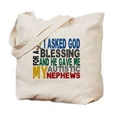 Blessing 5 Autistic Nephews Tote Bag
