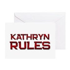 kathryn rules Greeting Card