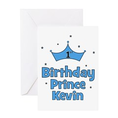 1st Birthday Prince Kevin! Greeting Card