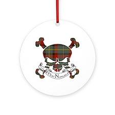MacNamara Tartan Skull Ornament (Round)