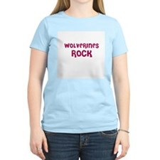 WOLVERINES ROCK Women's Pink T-Shirt