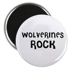 WOLVERINES ROCK Magnet