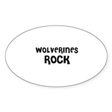 WOLVERINES ROCK Oval Decal