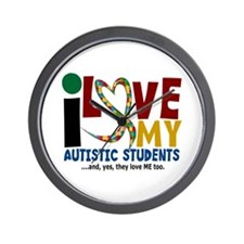I Love My Autistic Students 2 Wall Clock