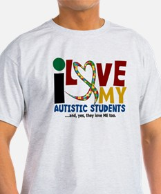 I Love My Autistic Students 2 T-Shirt