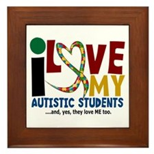 I Love My Autistic Students 2 Framed Tile