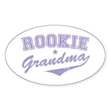 Rookie Grandma Oval Decal