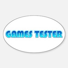 Games Tester Oval Decal