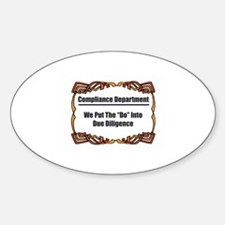 Due Diligence Compliance Oval Decal
