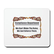 Enforce The Rules Mousepad
