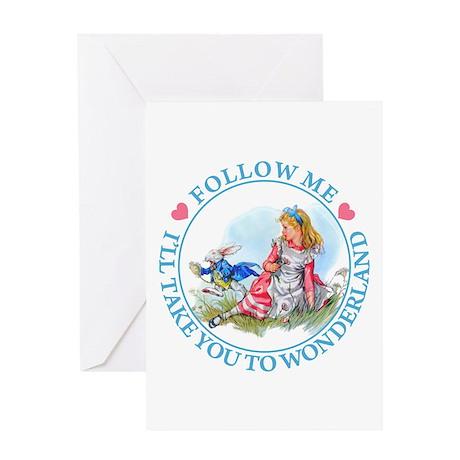 ALICE - FOLLOW ME Greeting Card