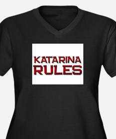 katarina rules Women's Plus Size V-Neck Dark T-Shi
