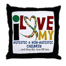 I Love My Autistic & NonAutistic Children 2 Throw