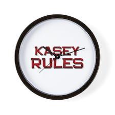 kasey rules Wall Clock
