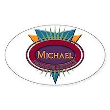Michael Oval Sticker (50 pk)
