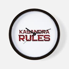 kasandra rules Wall Clock