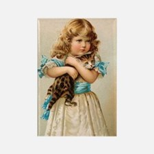 """Victorian Girl"" Rectangle Magnet"