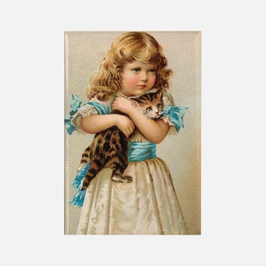 """Victorian Girl"" Rectangle Magnet"