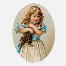 """Victorian Girl"" Oval Ornament"