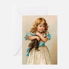"""Victorian Girl"" Greeting Card"