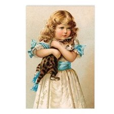 """""""Victorian Girl"""" Postcards (Package of 8"""