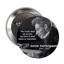 Truth Existentialist Kierkegaard Button