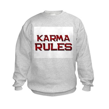 karma rules Kids Sweatshirt