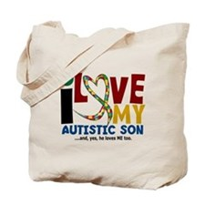 I Love My Autistic Son 2 Tote Bag