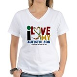 Autism dad shirt Womens V-Neck T-shirts