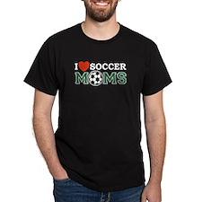 I Heart Soccer Moms Black T-Shirt
