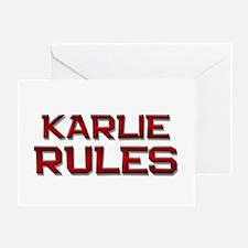 karlie rules Greeting Card