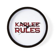 karlee rules Wall Clock