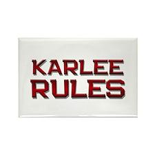 karlee rules Rectangle Magnet