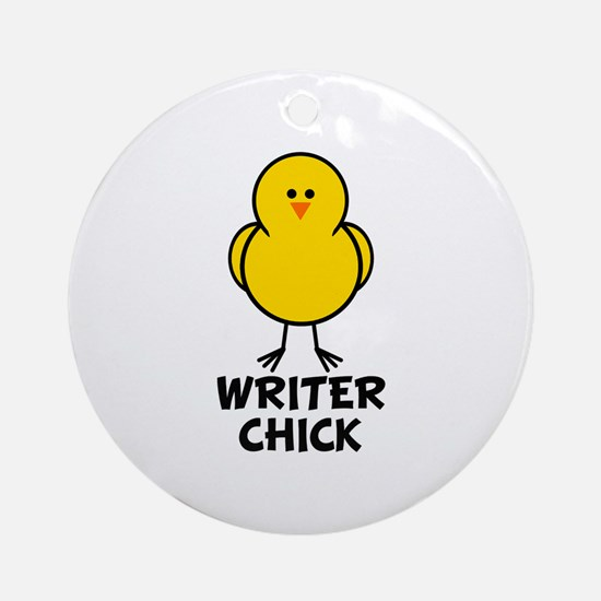 Writer Chick Ornament (Round)