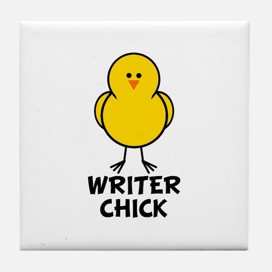 Writer Chick Tile Coaster