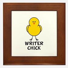 Writer Chick Framed Tile