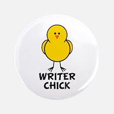 "Writer Chick 3.5"" Button"