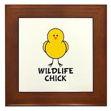 Wildlife Chick Framed Tile