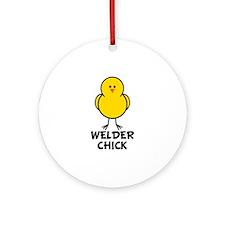 Welder Chick Ornament (Round)