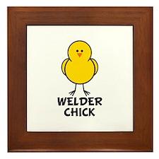 Welder Chick Framed Tile