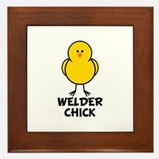 Welder Chick Framed Tile