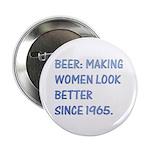 "Beer:making women look better 2.25"" Button (10 pac"