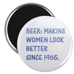 "Beer:making women look better 2.25"" Magnet (100 pa"